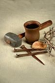 stock photo of communion-cup  - Crown of thorns - JPG