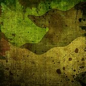 image of tarp  - Military grunge background with green abstract stains - JPG