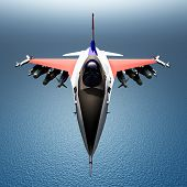 pic of fighter plane  - Computer generated 3D illustration with a Fighter Plane - JPG