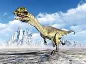 foto of dilophosaurus  - Computer generated 3D illustration with the Dinosaur Dilophosaurus - JPG