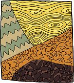 image of drought  - Symbolic zentangle of plants during drought season - JPG