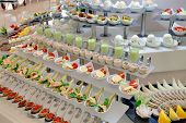 image of chinese restaurant  - food buffet in restaurant - JPG