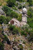 stock photo of chapels  - Stone Chapel of Our Lady of Salvation in Kotor Montenegro - JPG