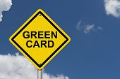 foto of warning-signs  - Green Card Warning Sign - JPG