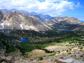 image of mt whitney  - A mountainous valley on a hike up to Mt - JPG