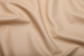 foto of blown-up  - blown leather background texture - JPG