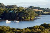 stock photo of inlet  - Yachts rest on Kerikeri inlet Northland New Zealand - JPG