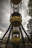 picture of ferris-wheel  - The abandoned Ferris wheel in the amusement park in Pripyat - JPG