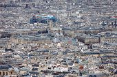 Постер, плакат: Aerial View Of Central Paris With Centre Georges Pompidou France