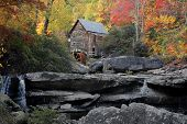 Grist Mill In Autumn