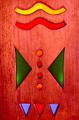 picture of choctaw  - native American Indian abstract designs wood base with colorful lights tribal art design elements - JPG