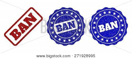 Ban Grunge Stamp Seals In