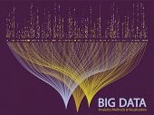 Big Data Statistical Methods Visualization Concept Vector Design. 0 And 1 Binary Matrix Data Visuali poster