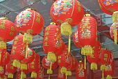 Red Lanterns In A China Town Chinese Temple poster