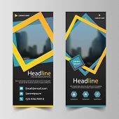 Business Roll Up Banner Flat Design Template ,abstract Geometric Banner Template Vector Illustration poster