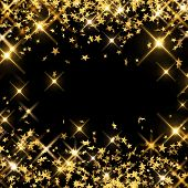 Abstract, Background, Black, Christmas, Confetti, Decoration, Design, Shooting Stars, Sparkle, Glow, poster