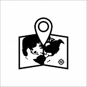 Pin On Map Icon Isolated On White Background. Pin On Map Icon Icon In Trendy Design Style. Pin On Ma poster