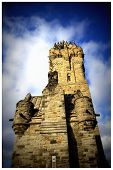 picture of william wallace  - This photo shows the National William Wallace Monument in Stirling - JPG