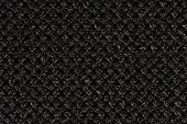 Extravagant Contrast Black Material Texture Close Up. poster