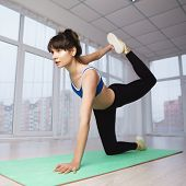 Flexibility, Grace, Good Mood, Healthy Lifestyle, Vitality, Yoga. Pilates Workout For Women. Sporty  poster