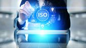 Iso Standards Quality Control Assurance Warranty Business Technology Concept. poster