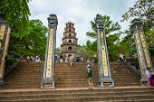 The Thien Mu Pagoda Is One Of The Ancient Pagoda In Hue City. Vietnam. poster