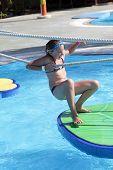 picture of tarzan  - Child is in tarzan pool Water Park Rhodes - JPG