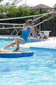 picture of tarzan  - Teen is in tarzan pool Water Park Rhodes - JPG