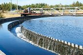 picture of reprocess  - Water overflow from the big sedimentation drainages round form