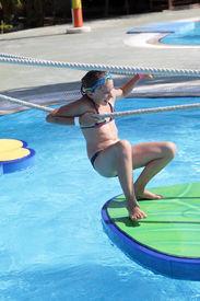 foto of tarzan  - Child is in tarzan pool Water Park Rhodes - JPG