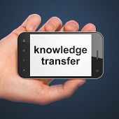 Education concept: Knowledge Transfer on smartphone