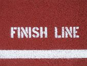 Finish Line - Sign On The Running Track