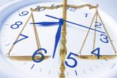 picture of pro-life  - Composite of Clock and Brass Scale Close Up - JPG