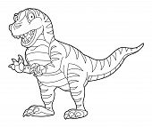 Coloring page - dinosaur - illustration for the children