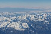 Постер, плакат: Caucasus mountains View from the airplane