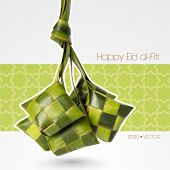 picture of hari  - Vector Muslim Ketupat  - JPG