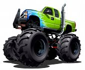 foto of monsters  - Cartoon Monster Truck isolated on white background - JPG