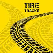 picture of dirt-bike  - Tire tracks - JPG