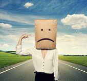 stock photo of bad mood  - concept photo of bad mood - JPG