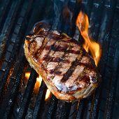 image of porterhouse steak  - A close up shot of an Australian Porterhouse steak - JPG