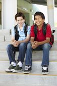 picture of pre-teen boy  - Pre teen boys at school - JPG