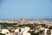 pic of gozo  - View over Victoria Rabat biggest city of Gozo island Malta - JPG