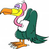 foto of buzzard  - Cartoon illustration of a happy smiling buzzard - JPG