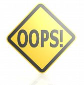 stock photo of oops  - Oops sign board image with hi - JPG