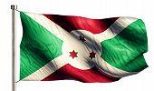 picture of burundi  - Burundi National Flag Isolated 3D White Background - JPG
