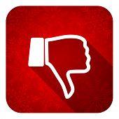 foto of dislike  - dislike flat icon - JPG