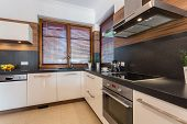 picture of enormous  - Stylish spacious kitchen in new luxury house - JPG
