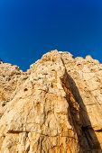 picture of grotto  - high cliffs and sea Neptune Grotto in Sardinia Italy - JPG