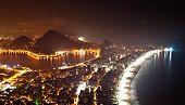 picture of ipanema  - Night View of Rio de Janeiro with Lake and Ipanema Beach - JPG