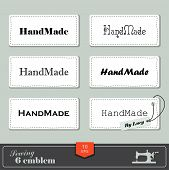 foto of tailoring  - illustration of vintage style sewing and tailor label - JPG